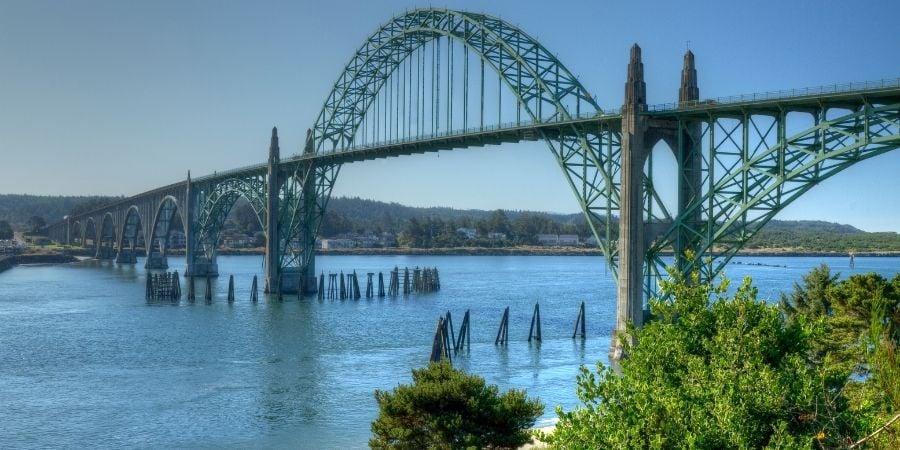 Newport, OR bridge and bayfront