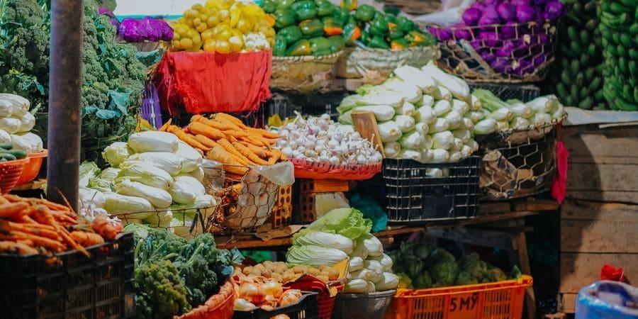 farmers market produce assortment corvallis oregon